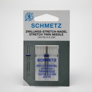 Schmetz 130/705 H STRETCH TWIN 2,5/75 Kaksoisneula pallokärjellä